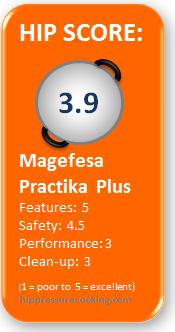 Magefesa Practika pressure cooker review scorecard