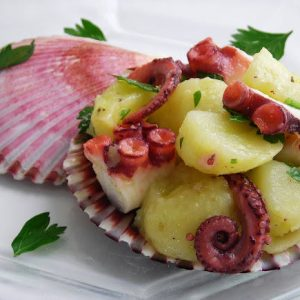 Pressure Cooked Octopus and Potato Salad – oh yea… it's good!