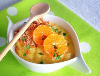 Arborio Rice Pudding with Mandarin Coins