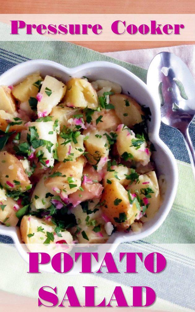 EASY Pressure Cooker Potato Salad - no mayo!