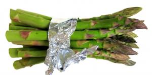 How to wrap asparagus to steam in the pressure cooker