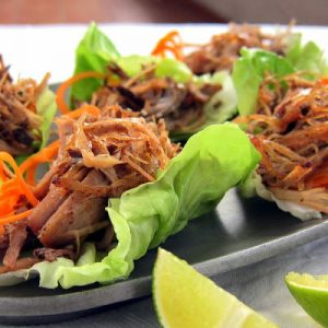Pressure Cooker Pulled Pork Lettuce Wraps!