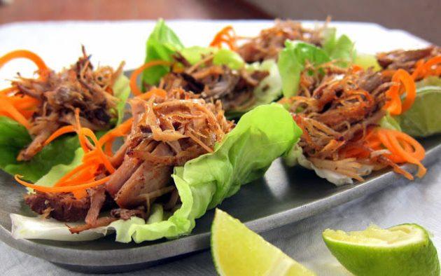 FRESH! Pulled Pork Carnitas Lettuce Wraps | hip pressure cooking