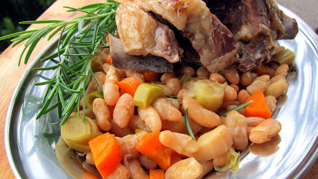 Lorna Sass's Lamb Shanks with White Beans close-up photo
