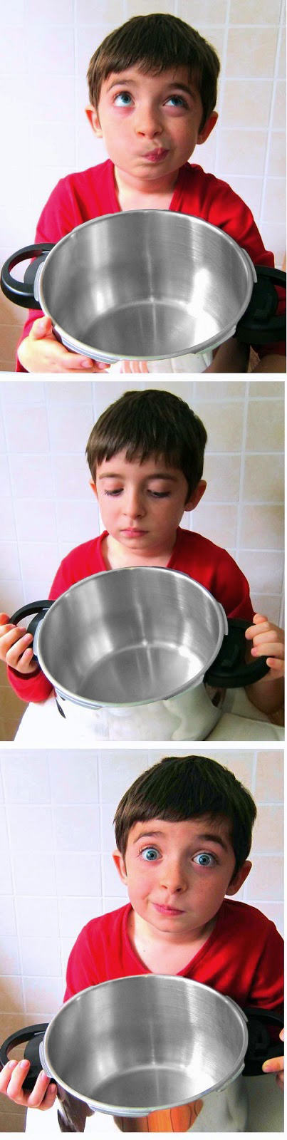 funny faces with a pressure cooker