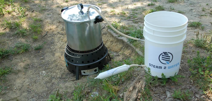 Camping Water Distiller ~ Pressure cooker mods stop infections make water hip