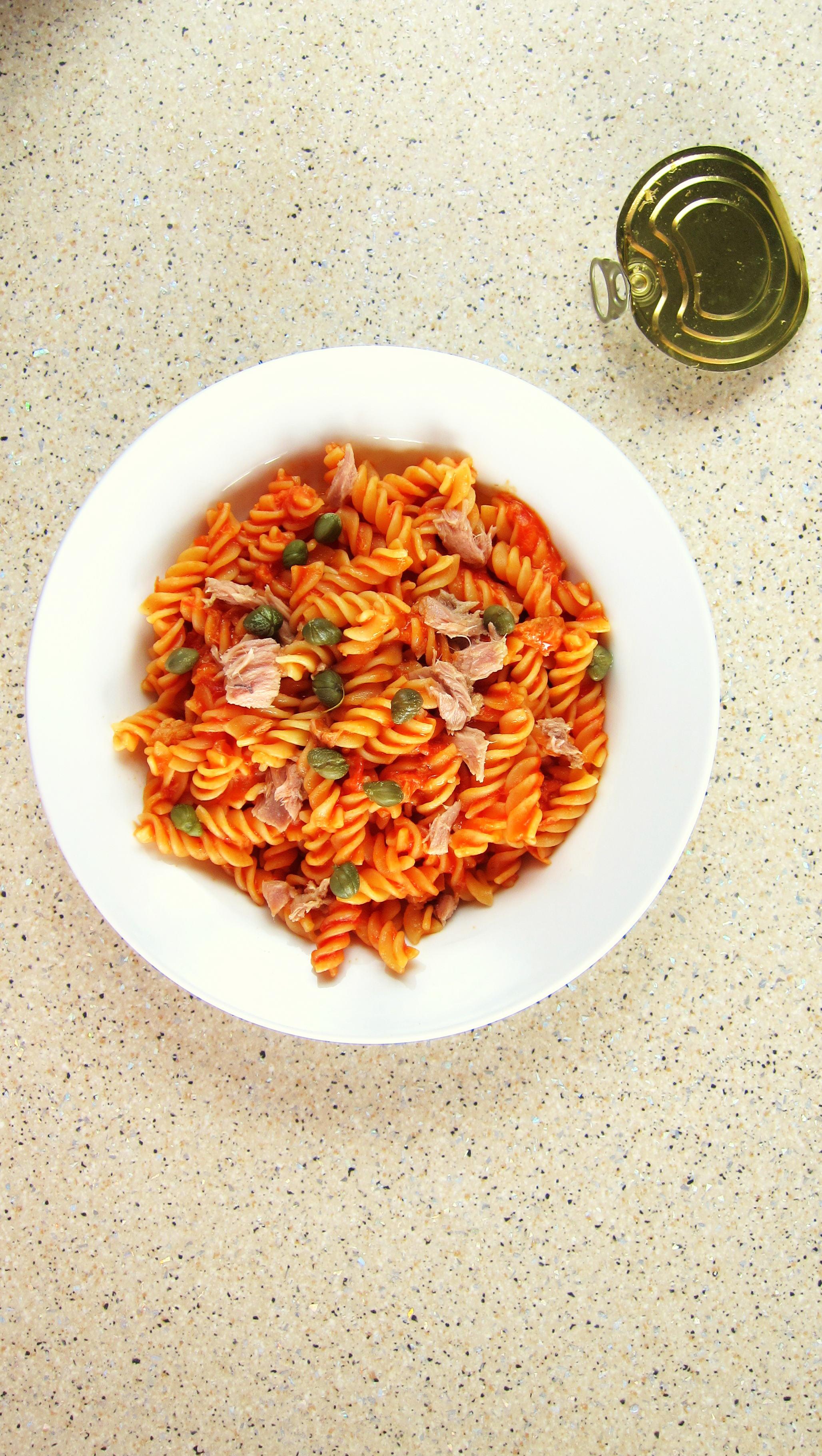 PRESSURE COOKER pasta with tuna and caper sauce!