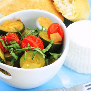 Zucchini & Tomato Mélange – chop as you go!