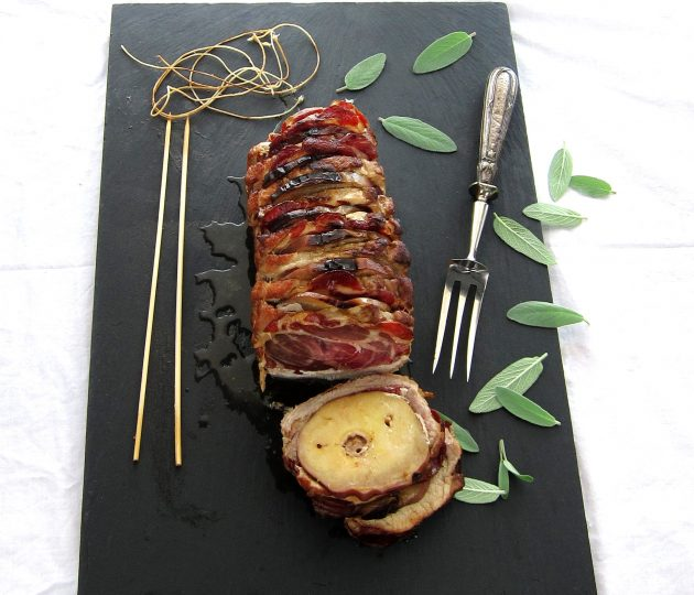 Sage Pork Roast Stuffed with Apples and Coppa - pressure cooker recipe