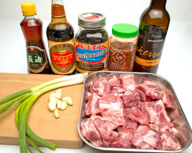 Ingredients for Beef Short Ribs ©Philip Shima
