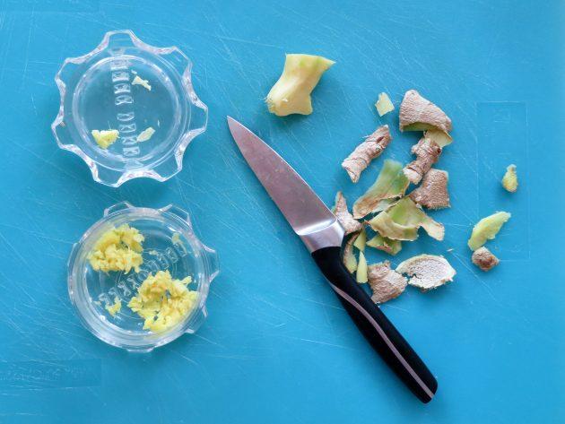Peel and chop fresh ginger