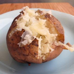 Short-cut Potatoes: bake potatoes in half the  time!