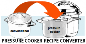 Pressure Cooker Recipe Converter - convert convetional and slow cooker recipes to the pressure cooker!