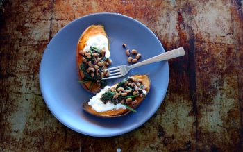 Sweet Potato and Black-eyed Peas One-pot-meal