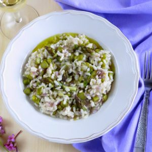 Asparagus Spring Risotto & making micro stock