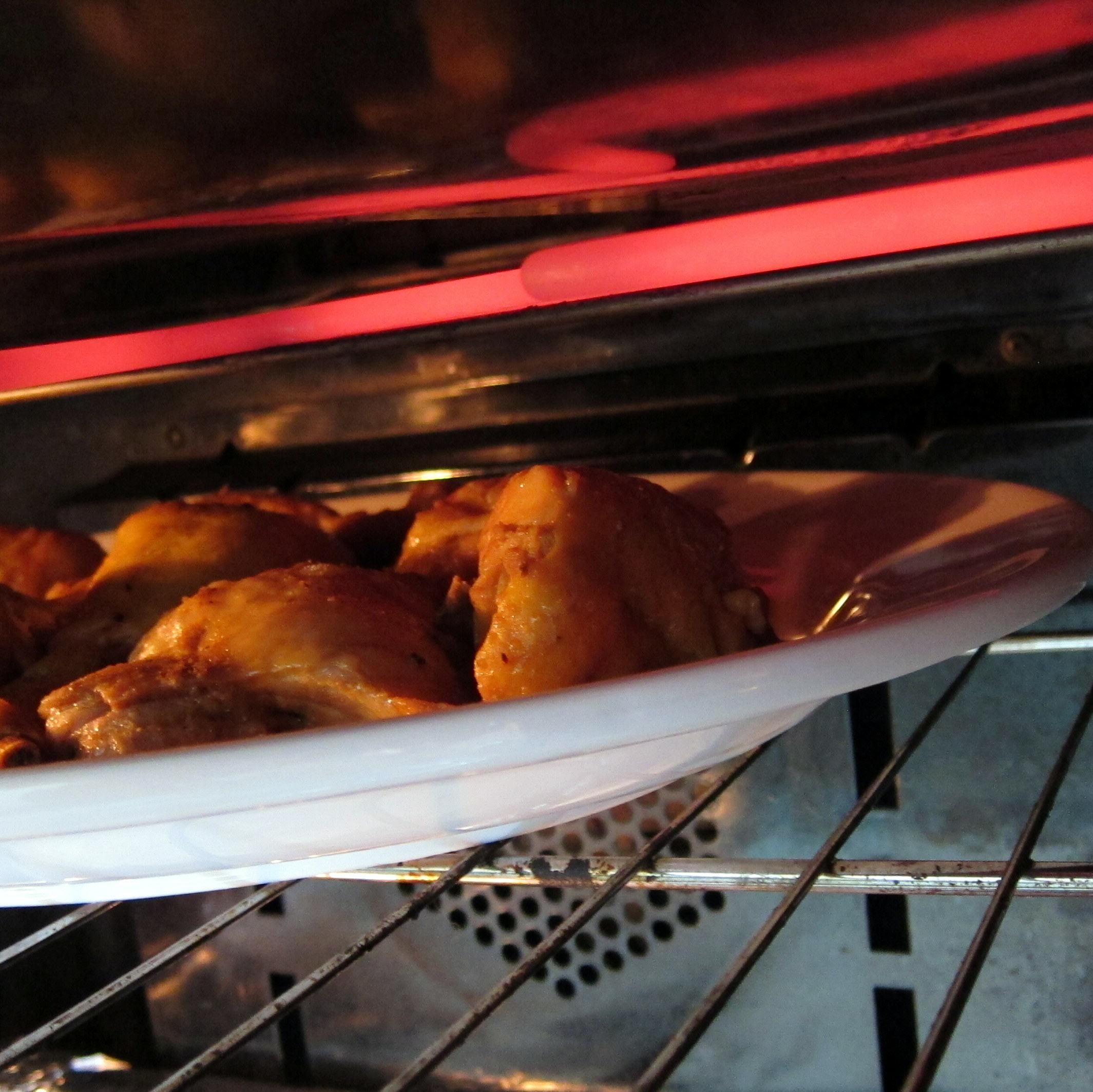 brown or broil pressure cooked meat