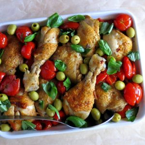 Summer Cherry Tomato Chicken Cacciatore