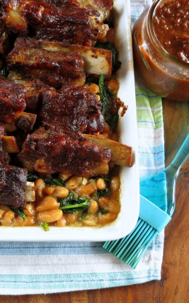 Pressure Cooker BBQ Ribs & Bean Salad One Pot Recipe