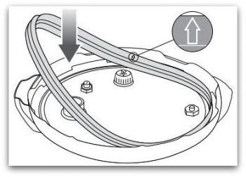 Excerpt from Breville Fast Slow Cooker explains how to place gasket.