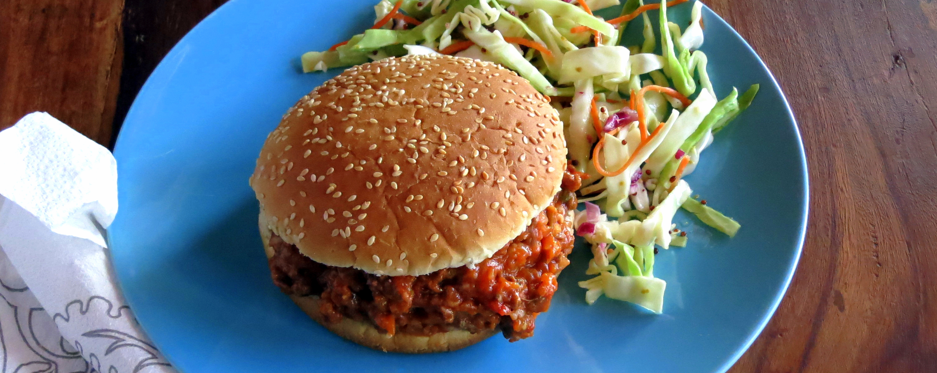 Skinny Sloppy Joes with Tangy Slaw • hip pressure cooking