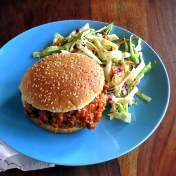 Skinny Sloppy Joes with Tangy Slaw ~ hip pressure cooking