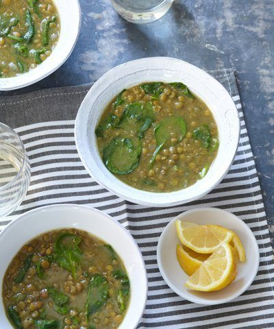 Ethiopian-inspired Lentil & Spinach Soup