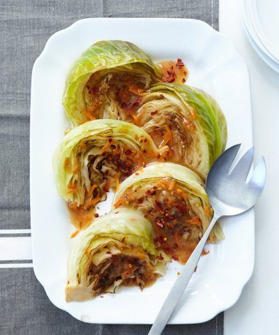Sweet & Spicy Braised Cabbage