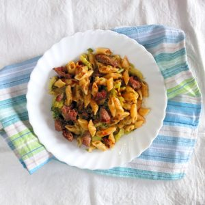 Pressure Cooker Pasta with Broccoli & Sausage One Pot