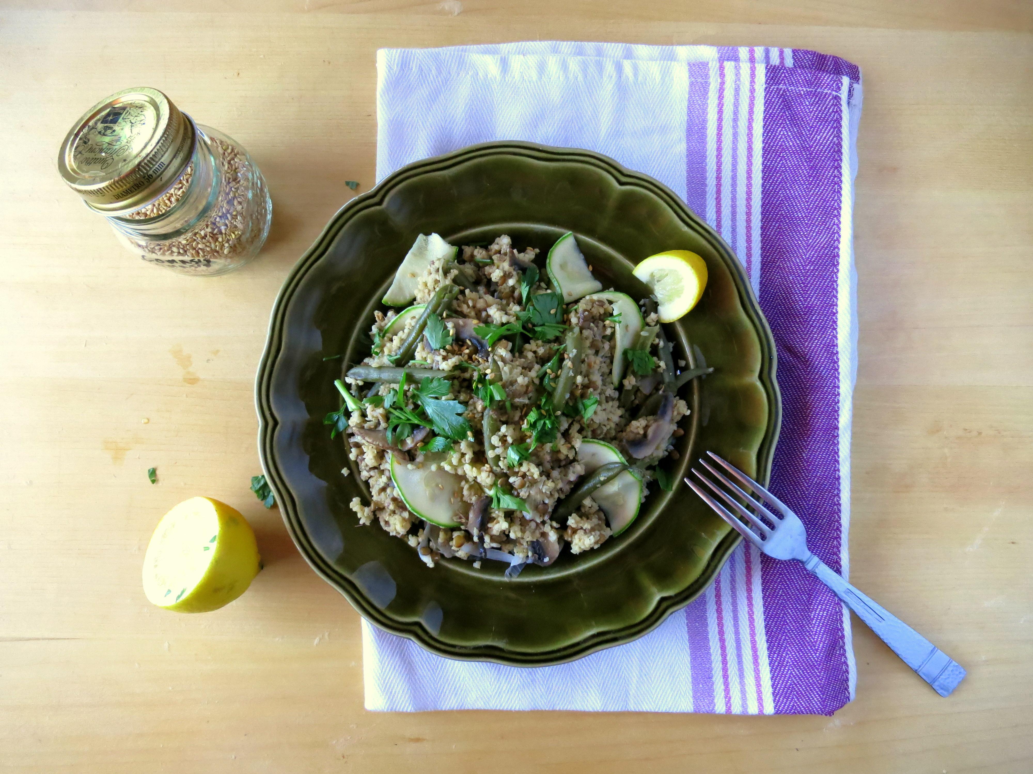 Millet, Veggie And Lentil One Pot