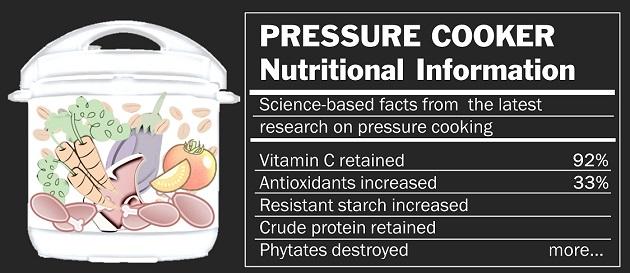pressure cooker nutritional information