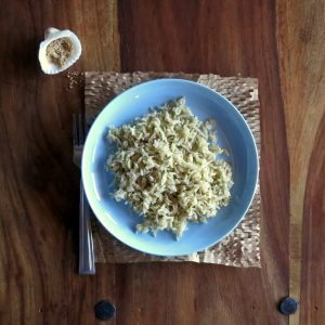 Pressure Cooker Steamed Brown Rice